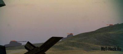 Тень танка в месте засвета